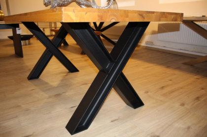 Tischgestell Stahl schwarz matt Struktur Doppel T-Träger HEB100 TUX L700 Tischuntergestell Tischkufe Kufengestell Tischbeine Tischfuß Industriedesign Esstisch Schreibtisch