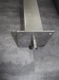 Brauchwassersäule Edelstahl SQS-1030 K240 geschliffen mit Schlauchhalterung und zusätzlichen Zulauf (1 Stück)