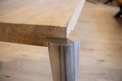 Tischbein Edelstahl TBER rund Rundrohr eingelassen versenkt Tischfüße Tischgestell Tisch Füße Schreibtisch Wohnzimmertisch Esstisch Esszimmertisch Möbelfuß Schreibtischfüße Möbelbein