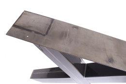 Tischgestell Rohstahl klarlack TUXk-890 breit Tischuntergestell Tischkufe Kufengestell (1 Paar)