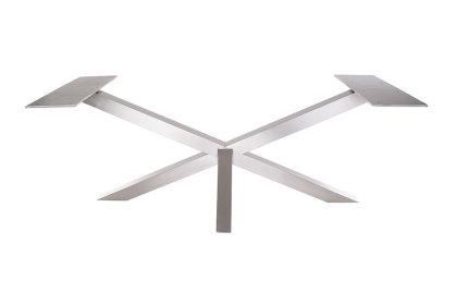 Kreuzgestell Edelstahl V2A GX80x80 L1600 Tischgestell Küchentisch Esstisch Tischuntergestell X-Gestell