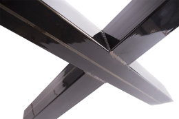 Tischgestell Rohstahl klarlack TUXk-990 breit Tischuntergestell Tischkufe Kufengestell (1 Paar)