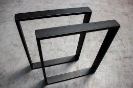 Tischgestell schwarz matt TR80sms-500 breit Tischuntergestell Tischkufe Kufengestell (1 Paar)