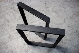 Tischgestell schwarz TR80s-500 breit Tischuntergestell Tischkufe Kufengestell (1 Paar)