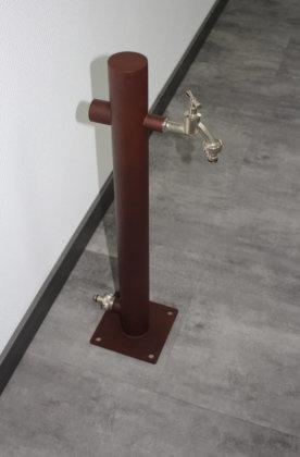 Brauchwassersäule Edelstahl SRG-650 Rostoptik mit zusätzlichen 1 Zoll Anschlüssen (1 Stück)