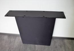 Stahlwange Premium SWG10s Tischgestell Tischuntergestell gerade schwarz matt Struktur (1 Stück)