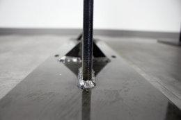 Stahlwange Premium SWG10k Tischgestell Tischuntergestell gerade Rohstahl Klarlack matt Industrielook (1 Stück)