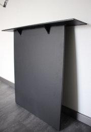 Stahlwange Premium SWG10s Tischgestell Tischuntergestell gerade schwarz matt Struktur (1 Paar)