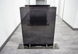 Stahlwange Premium SWG10k Tischgestell Tischuntergestell gerade Rohstahl Klarlack matt Industrielook (1 Paar)