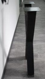 Stehtischgestell Rohstahl Klarlack matt Doppel T-Träger HEB100 TUX-H1060 B570 Vollmaterial Metall Stehtisch Tischuntergestell  (1Stück)
