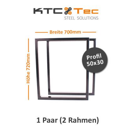 Tischgestell schwarz TRGs-700 breit Tischuntergestell Tischkufe Kufengestell (1 Paar)