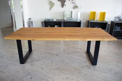 Tischgestell Stahl schwarz matt Struktur TU100x40 H700xL647 Tischuntergestell Tischkufe Kufengestell Tischbeine Tischfuß Industriedesign Esstisch Schreibtisch