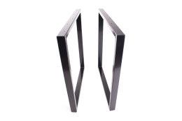 Tischgestell schwarz TRGs-900 breit Tischuntergestell Tischkufe Kufengestell (1 Paar)