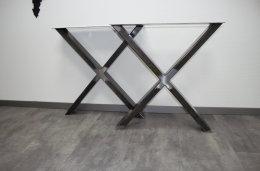 Tischgestell Rohstahl TUX80x20km-720/700 Rohstahl Klarlack matt (1 Paar)