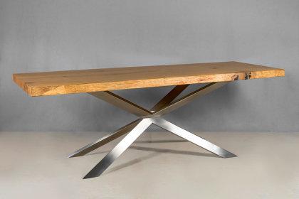 Kreuzgestell Edelstahl V2A GX80x40 L1200 Esstisch Tischgestell Wohnzimmer Tisch Spider Küchentisch Tischuntergestell X-Gestell