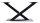 Kreuzgestell Stahl Paris Vario schwarz matt Tischgestell Küchentisch Esstisch Tischuntergestell X-Gestell einteilig Tischkufen Kufen Konsolentisch