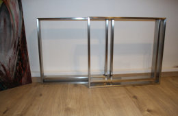 Tischgestell Edelstahl V2A TR80x20 H720xB790 mit...