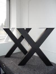 II Wahl Tischgestell Stahl TUX100x100sms H720xL690...