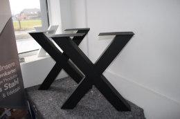 II Wahl Tischgestell Stahl TUX100x100sms H720xL690 schwarz matt Struktur