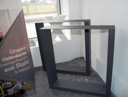Tischgestell Stahl TUG150x50 H720xL700 anthrazit matt Struktur