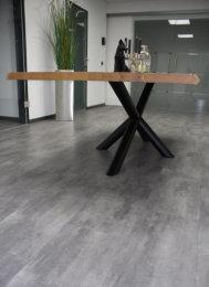 Tischgestell Stahl schwarz matt London Ø 80mm L:1700 Tischgestell Küchentisch Esstisch Tischuntergestell X-Gestell