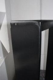 II Wahl Tischgestell Stahl schwarz matt TGF100x10 H670xB430mm mit Strebe (1 Paar)