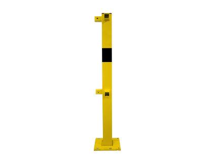Rammschutzgeländersystem Eckpfosten 70x70mm H1200mm mit Oberholm & Knieholm - abnehmbar