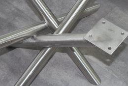 Couchtischgestell Edelstahl MI-RONDO40x40-400_950_550 K240 geschliffen (1 Stück)