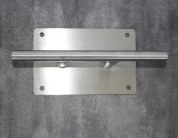 Edelstahl Klampe/ Doppelpoller L:350mm für Bootssteege massive Ausführung  K240 geschliffen (1 Stück)