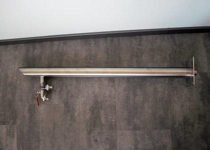 Brauchwassersäule Edelstahl SRS-1010 mit 3/4 Zoll Auslauf- und Bodenzulauf geschliffen K240 (1 Stück)