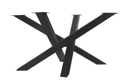 Kreuzgestell Stahl schwarz matt MI-KADO 80x80 LxB:1000x900mm SONDERMAß Tischgestell Küchentisch Esstisch Tischuntergestell X-Gestell