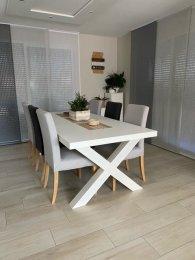 Tischgestell Stahl weiß matt TUXwms 100x100 900 Tischkufe Kreuz X-Gestell Tischuntergestell 1 Paar