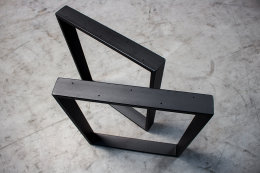 Tischgestell schwarz matt TR80sms-600 breit Tischuntergestell Tischkufe Kufengestell (1 Paar)