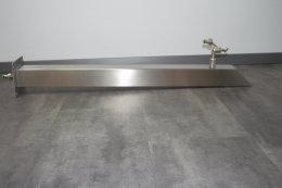 Brauchwassersäule Edelstahl SQS-1040mm mit Bodenzulauf geschliffen K240 (1 Stück)