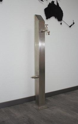 Brauchwassersäule Edelstahl SQS-1040mm mit Zulauf linksseitig geschliffen K240 (1 Stück)
