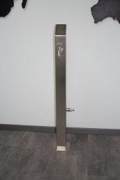 Brauchwassersäule Edelstahl SQS-1040mm mit Zulauf...
