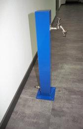 TRINKWASSER Wassersäule Stahl TSQG-650 blau glänzend (1 Stück)