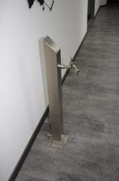 Brauchwassersäule Edelstahl SQS-950mm II Wahl Standard geschliffen K240 (1 Stück)