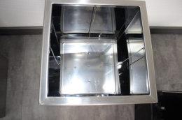 Pflanztopf Edelstahl UNO-940x220mm K240 geschliffen (1 Stück)