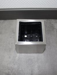 Pflanztopf Edelstahl UNO-240x230mm K240 geschliffen (1 Stück)