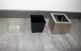 Pflanztopf Edelstahl UNO-130x150mm K240 geschliffen (1 Stück)