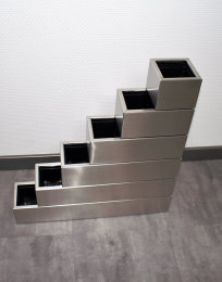 Pflanztopf Edelstahl MULTI2-100x190mm K240 geschliffen (1 Stück)