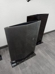 ABVERKAUF: Stahlwange SWR48 Raute Rohstahl Klarlack glanz Tischgestell Esstisch Schreibtisch Wangen massiv Tischkufen Industrie (1 Stück)