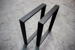 Tischgestell schwarz TR80s-800 breit Tischuntergestell Tischkufe Kufengestell (1 Paar)