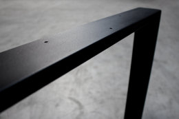 Tischgestell schwarz matt TR80sms-900 breit Tischuntergestell Tischkufe Kufengestell (1 Paar)