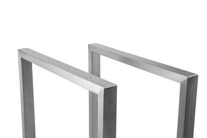 Tischgestell Edelstahl TRG 50x30 600 Untergestell Kufen Tischuntergestell, 1 Stk