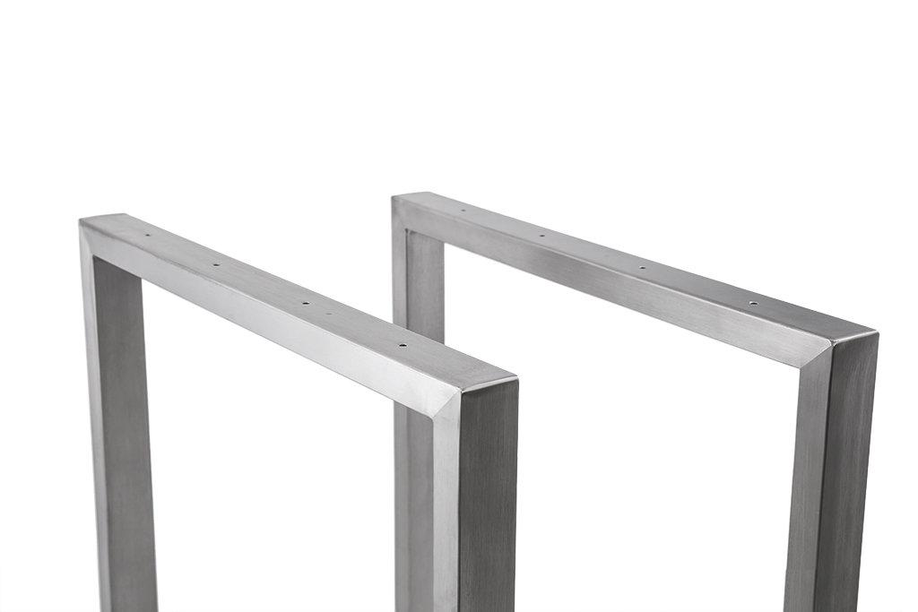 tischgestell edelstahl 900 breit trg900 tischuntergestell tischkufe k. Black Bedroom Furniture Sets. Home Design Ideas