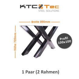 Tischgestell schwarz TUXs-890 breit Tischuntergestell...