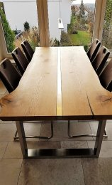 Tischgestell Edelstahl TU 100x40 700 Untergestell Kufen Tischuntergestell Tischkufe Design Tisch Esstisch, 1 Stk