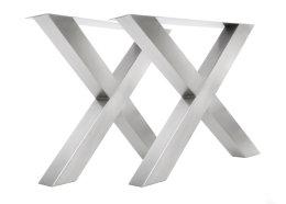 Tischgestell Edelstahl TUX 100x100 790 Kufen Tischuntergestell 800, 1 Stk